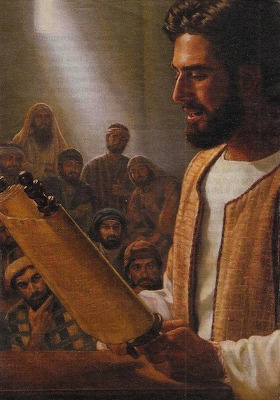 gesu insegna nella sinagoga