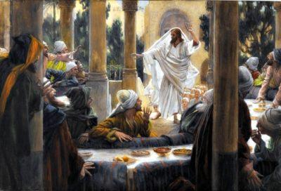 Fariseo cieco pulisci prima linterno del bicchiere