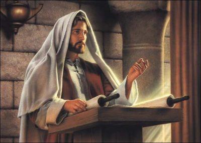 gesu legge le scritture
