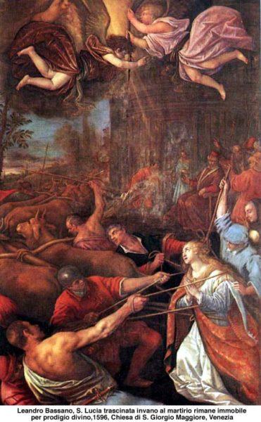 martirio santa lucia