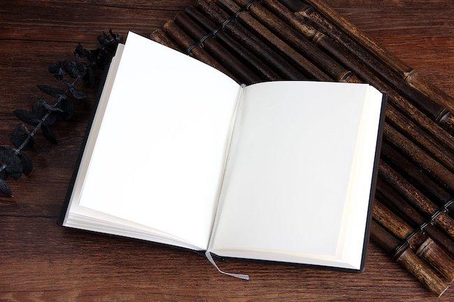 libro pagine bianche